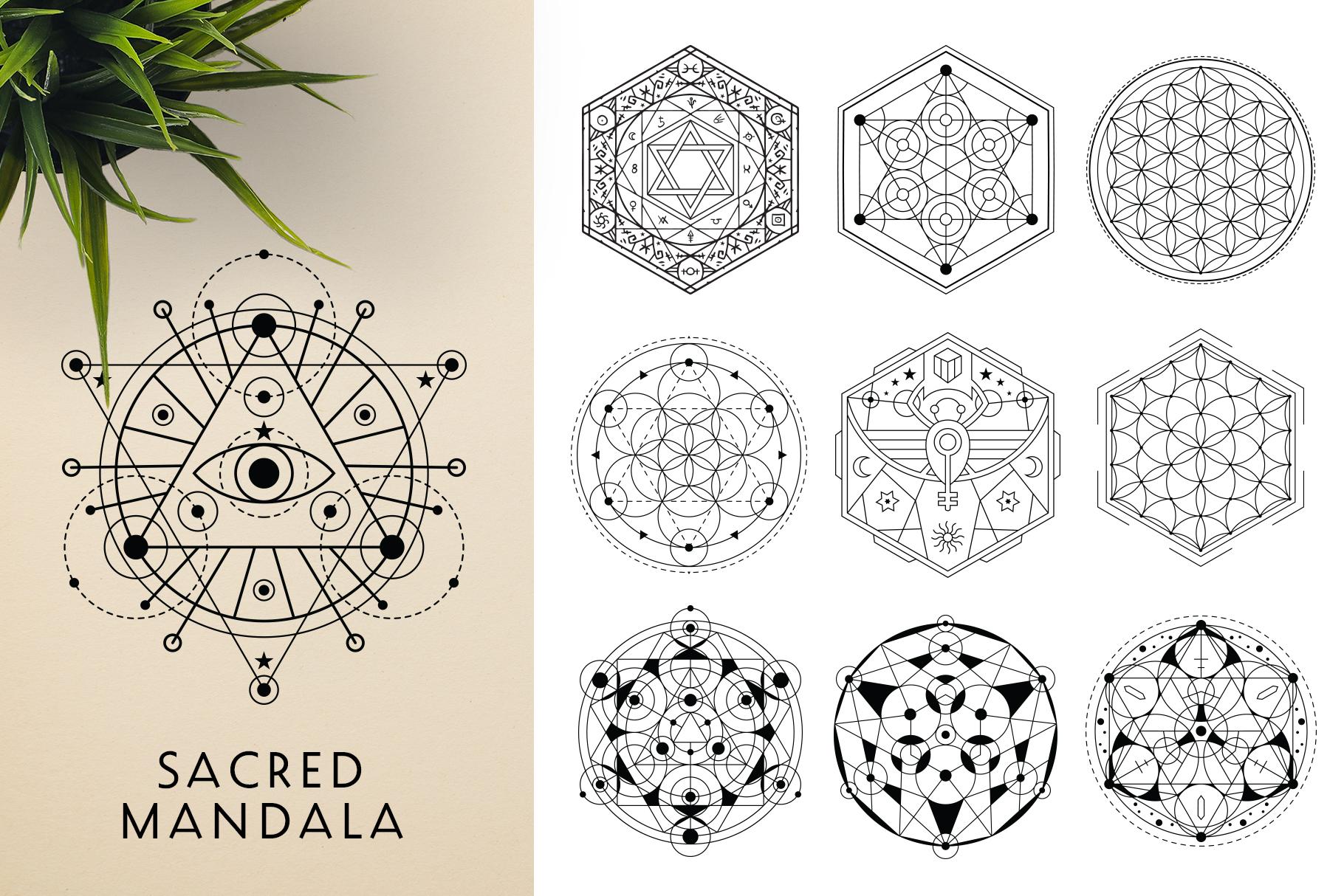 300 Vector Mandala Ornaments example image 18