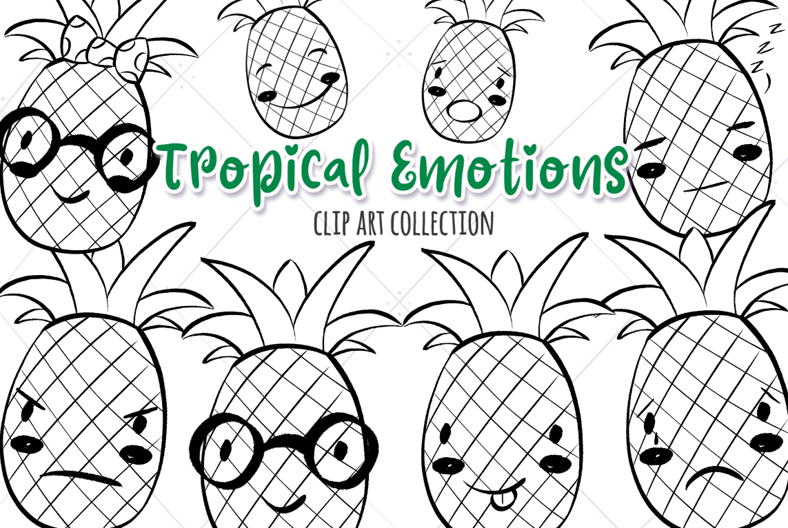 Tropical Emotions Digital Stamps example image 1