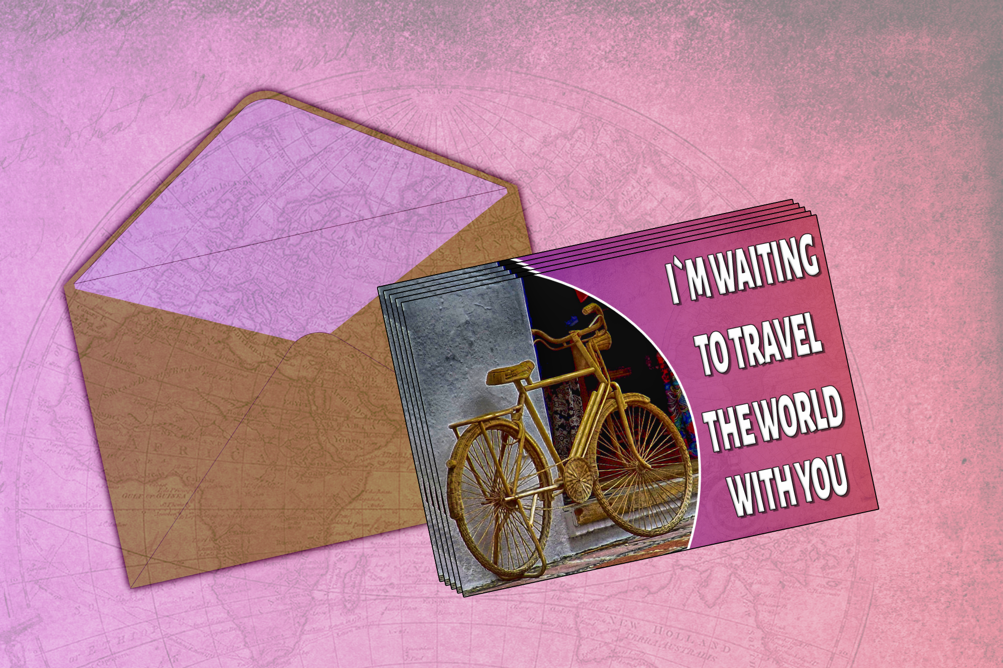 I am Waiting To Travel The World With You - Postcard example image 1