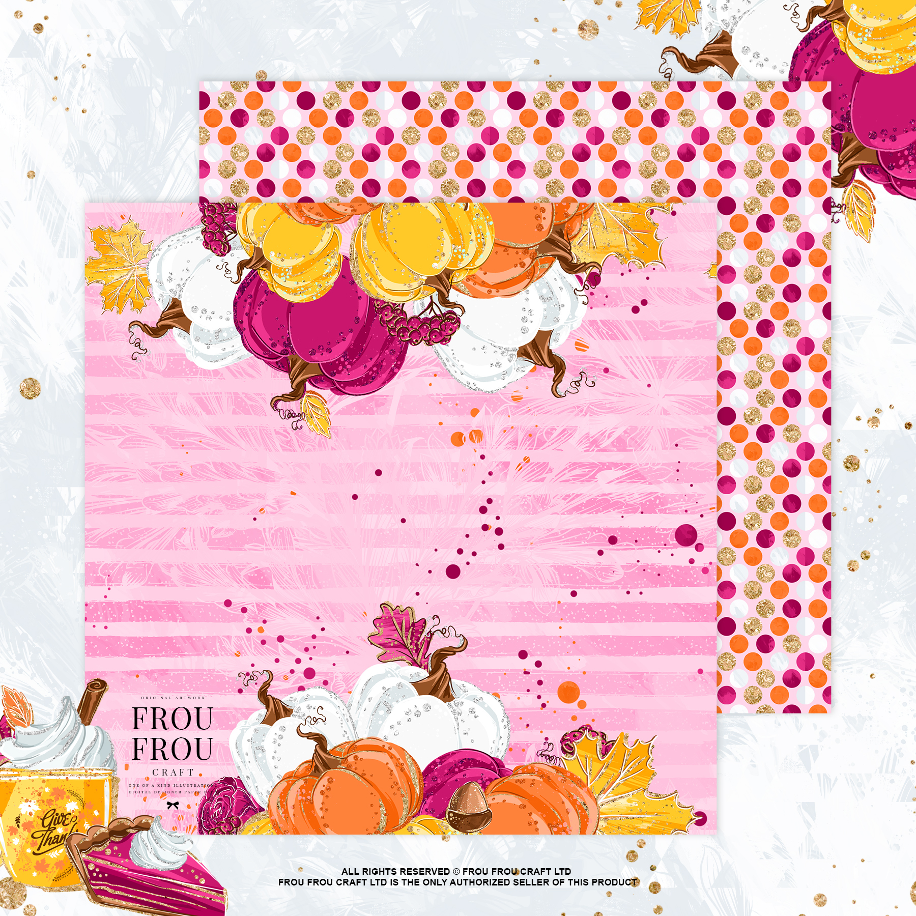 Sweets Cake Pumpkin Pie Fall Autumn Paper Pack example image 3