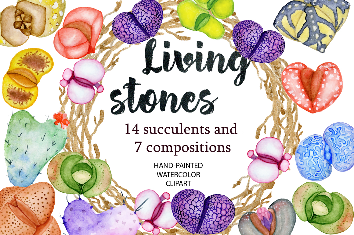 Spring Sale succulents & cactuses watercolor bundle 75% OFF! example image 12