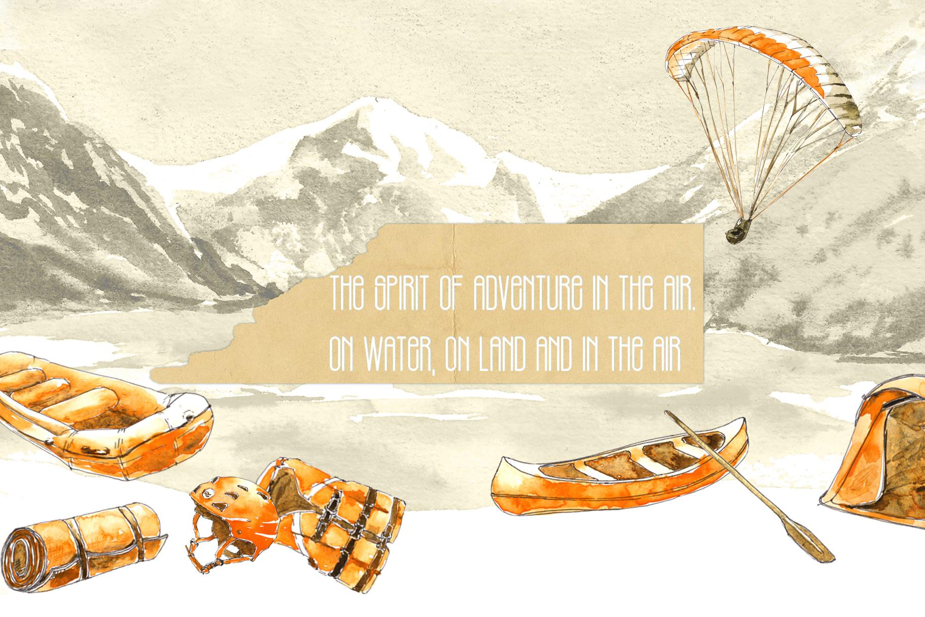 Outdoor Activities Watercolor Sketch example image 3