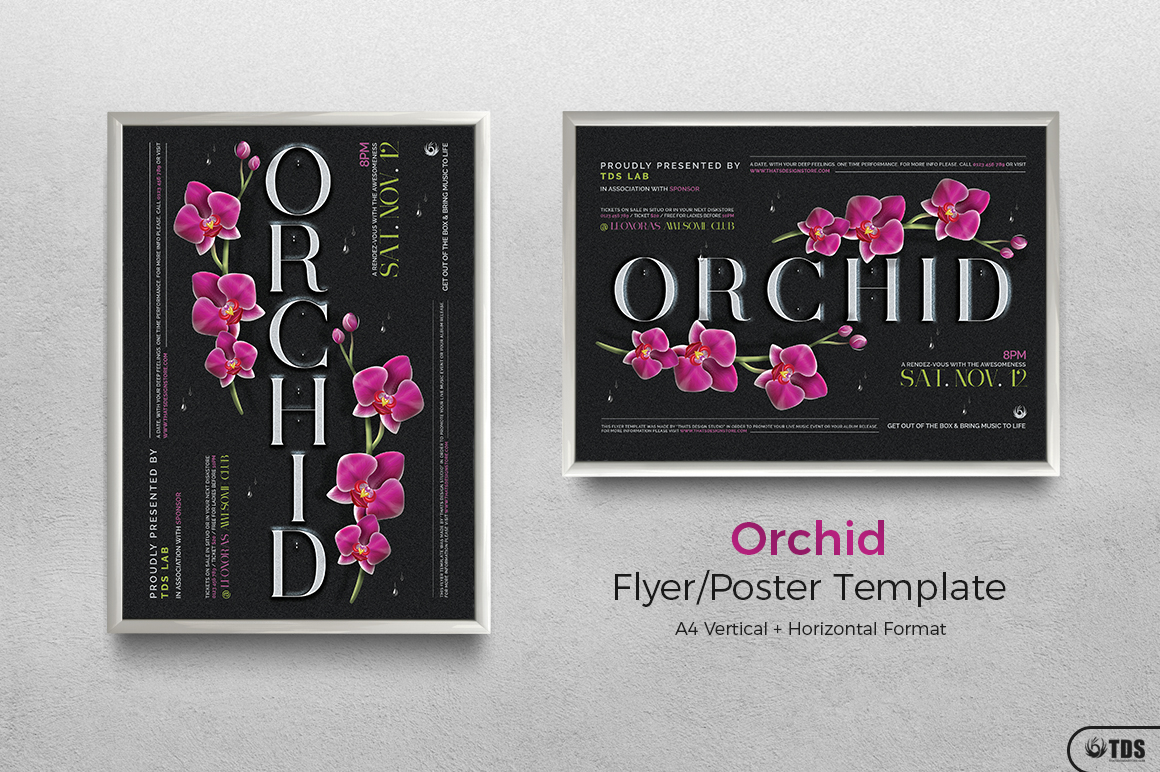 Orchid Flyer Template example image 9