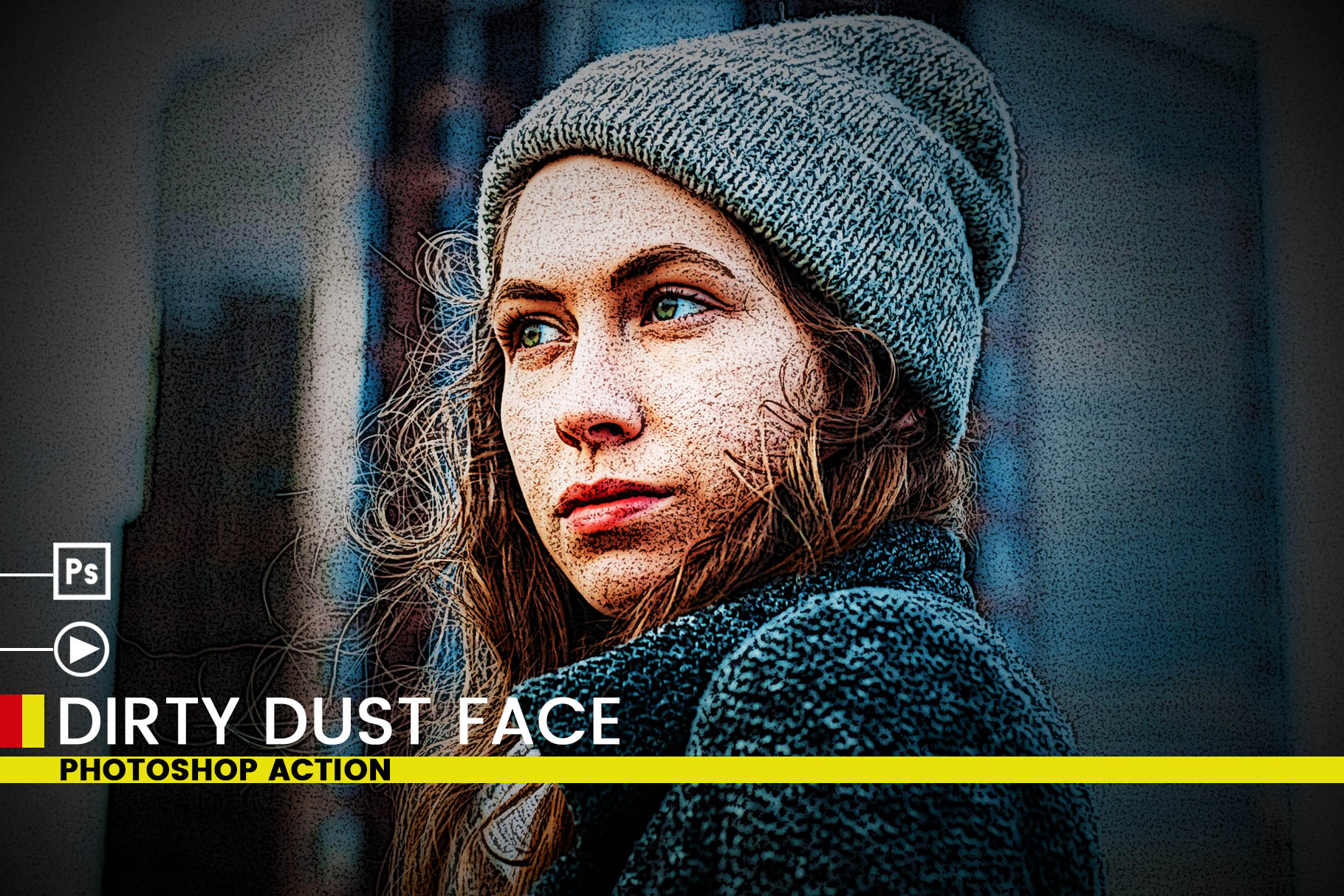 Dirty Dust Face Photoshop Actions example image 7