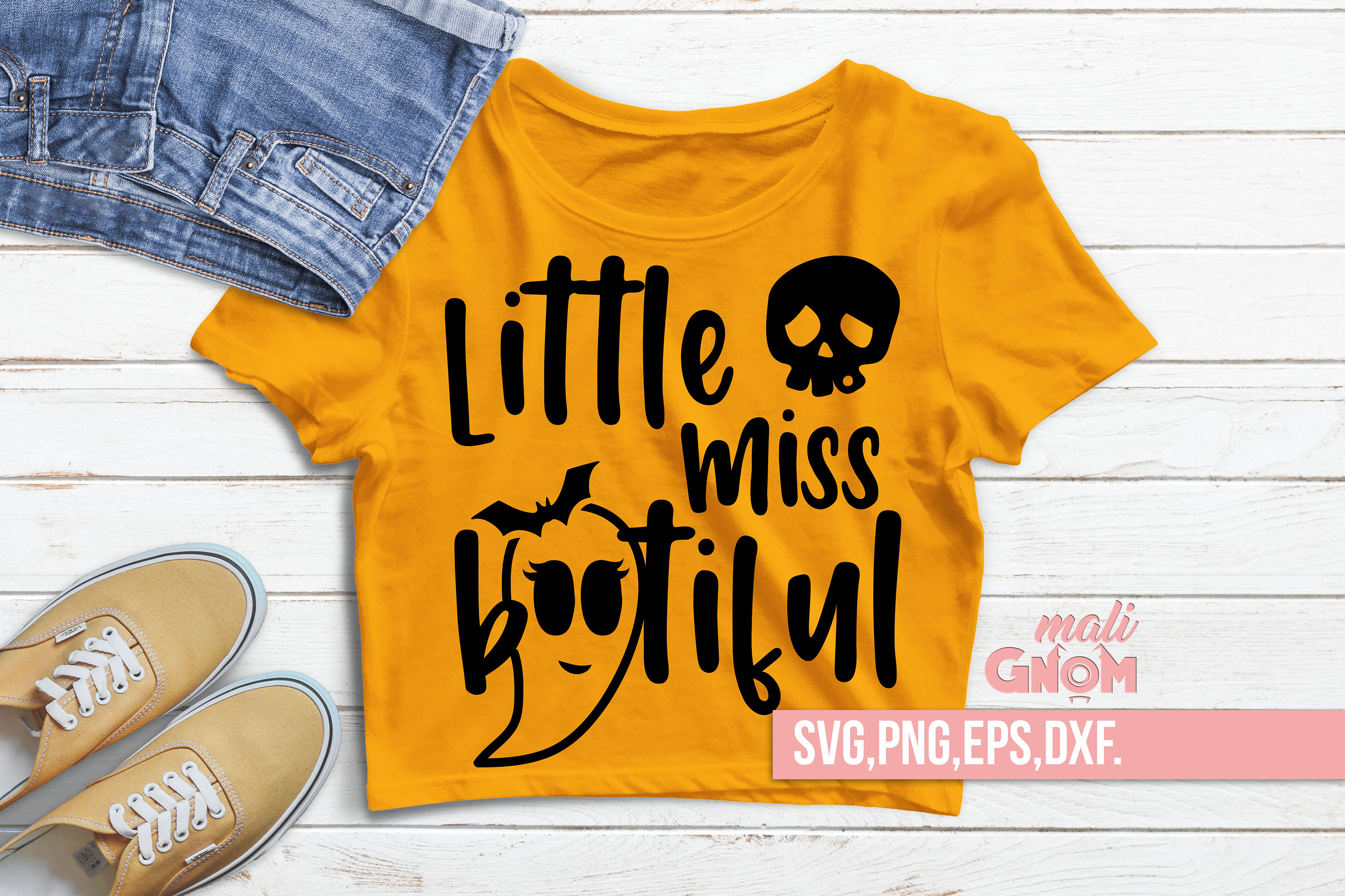 Little Miss Bootiful SVG, Halloween SVG file, Trick or Treat example image 1