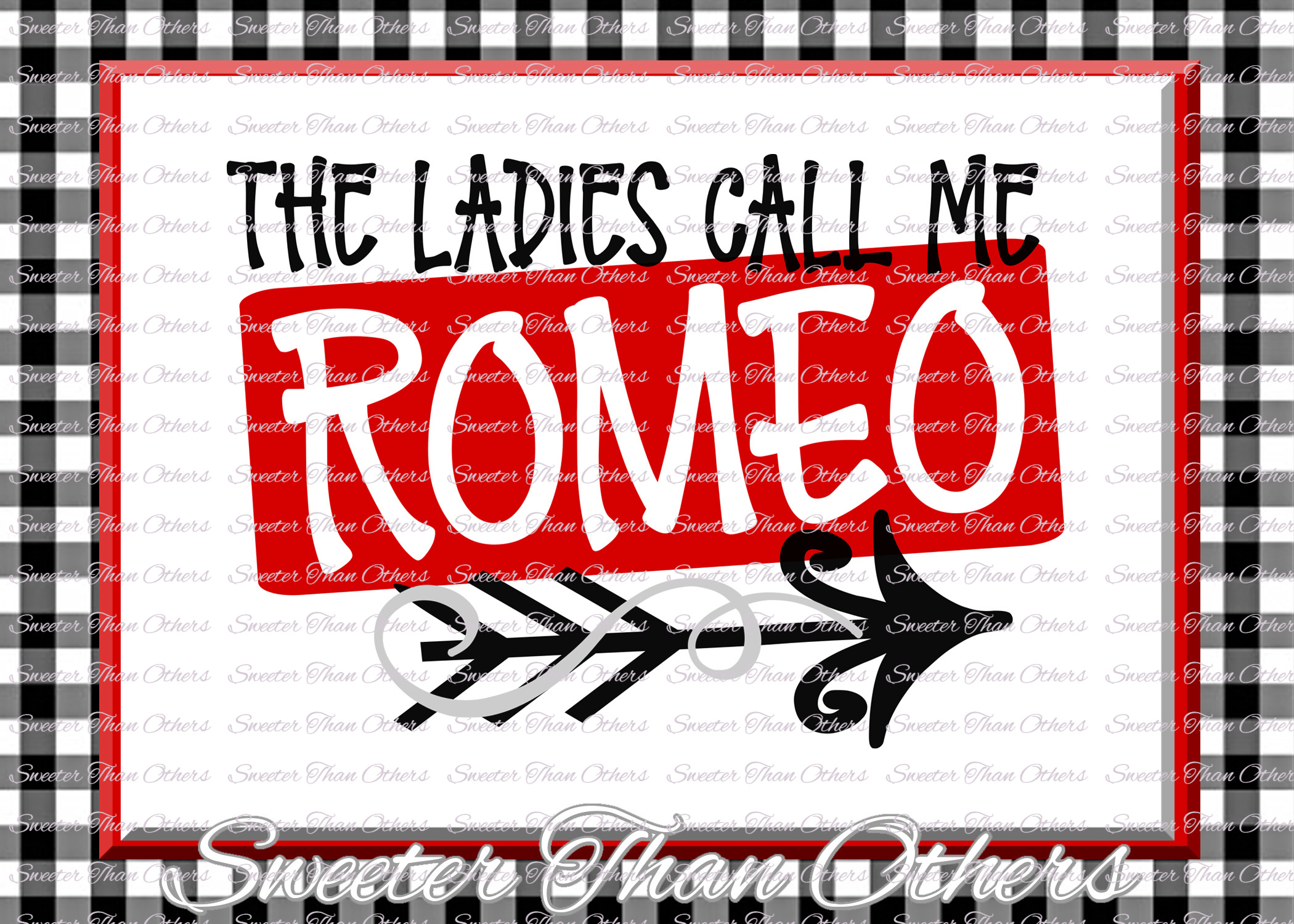 The Ladies Call Me Romeo Svg Valentines Day svg example image 1