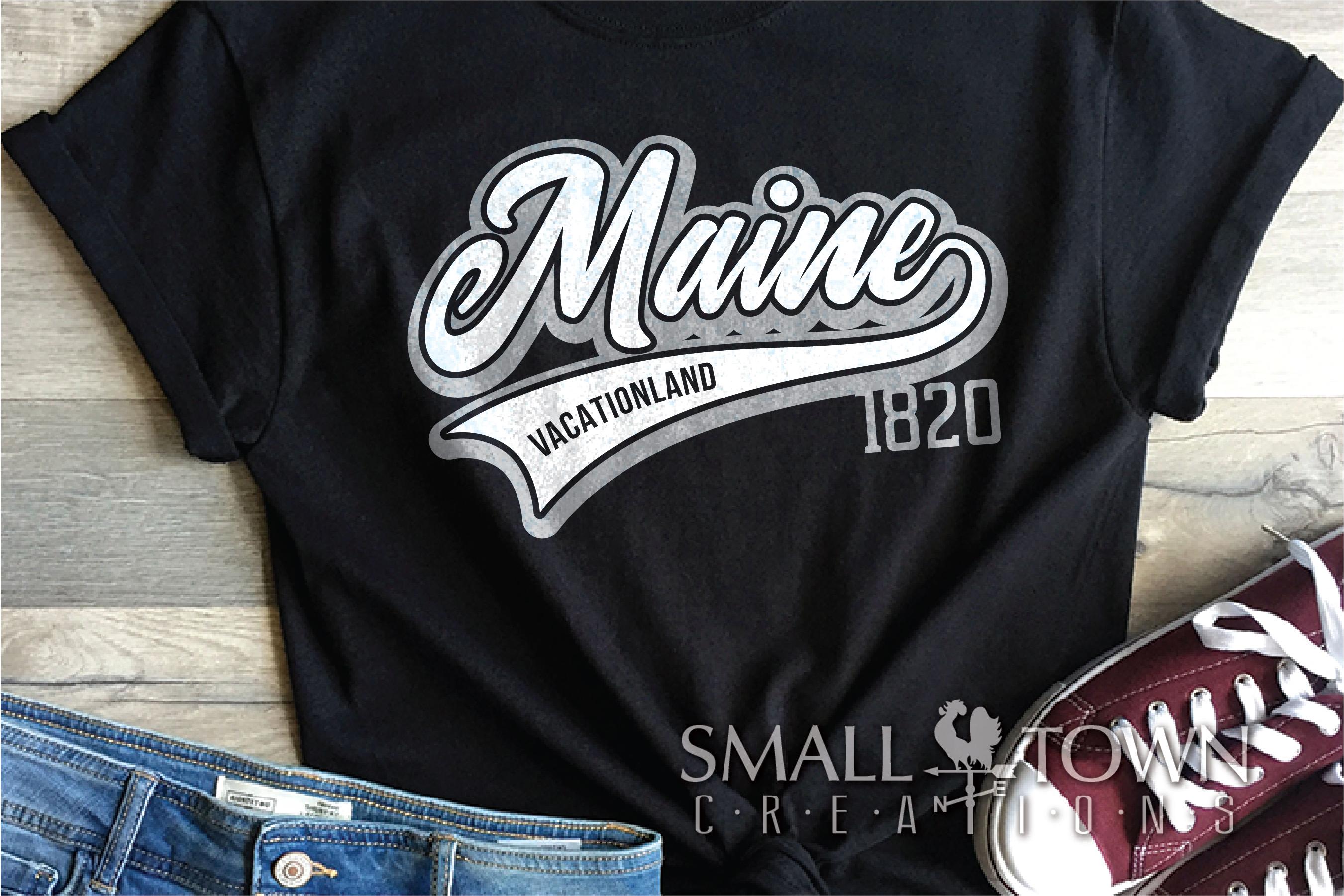 Maine, Vacationland - slogan, Logo, PRINT, CUT & DESIGN example image 2