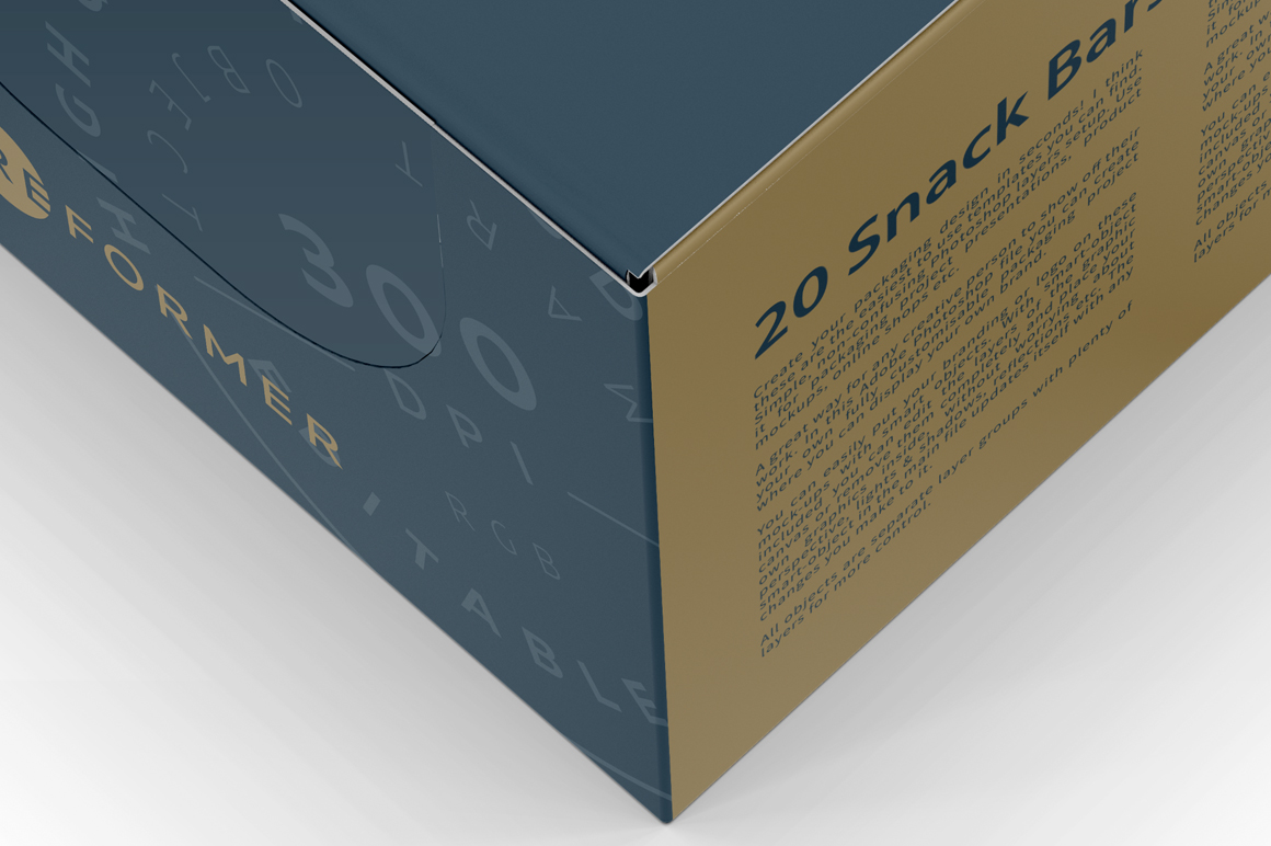 20 Snack Bars Box Mockup example image 2