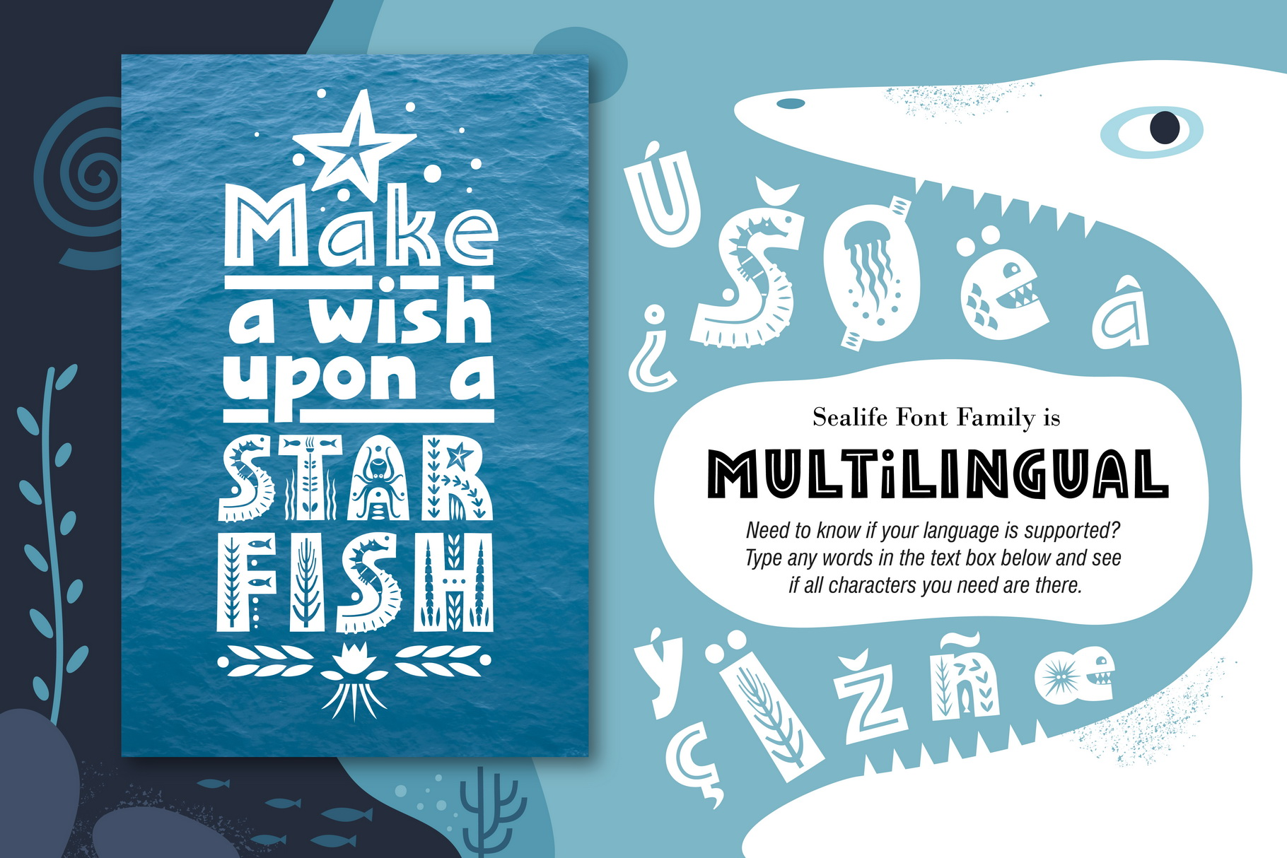 Sealife Font Family example image 6