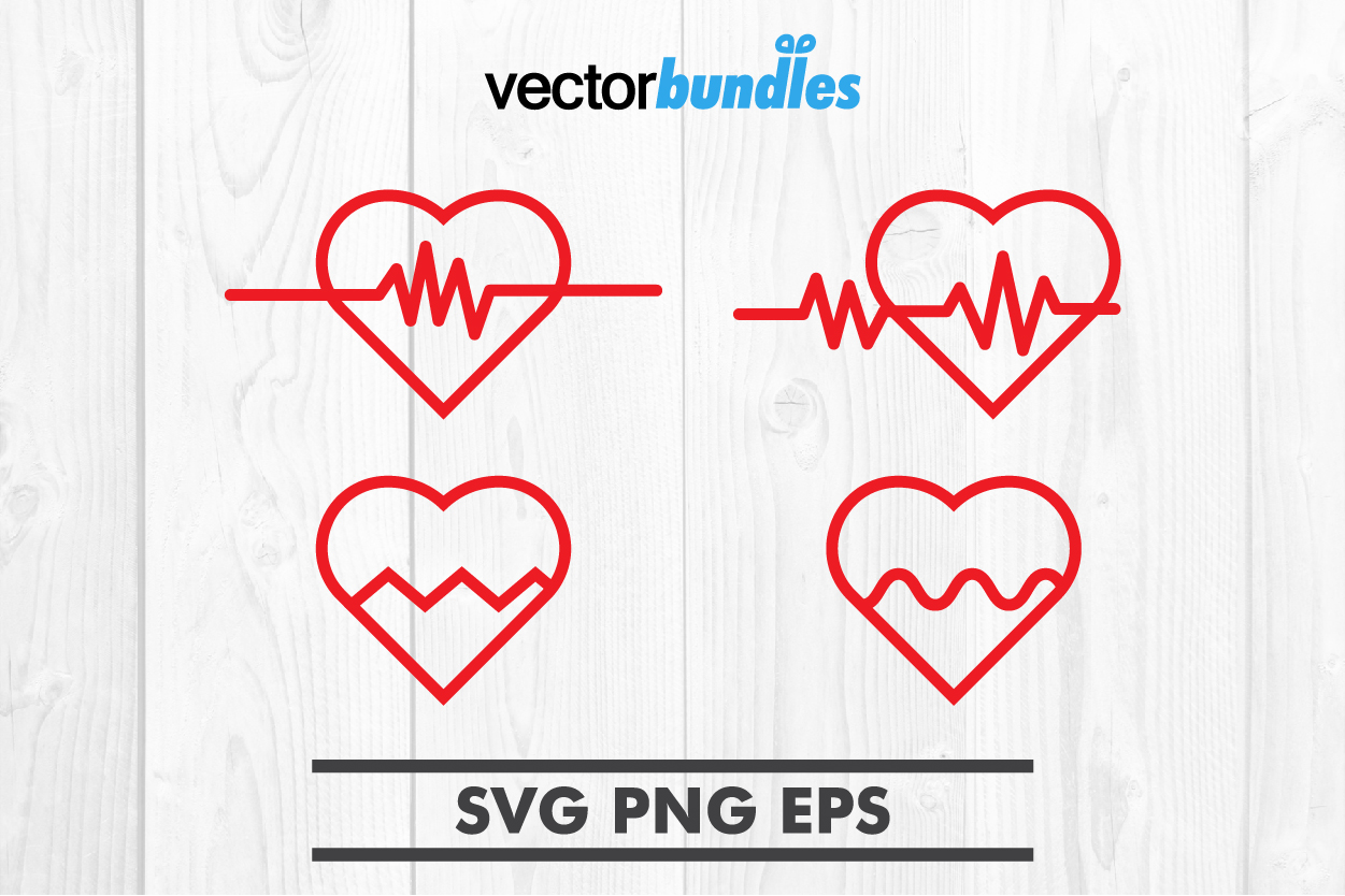 Heart pulse clip art svg example image 1