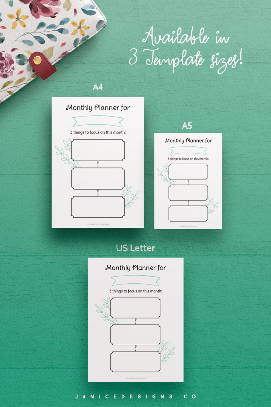 InDesign Planner Template for Commercial Use example image 6