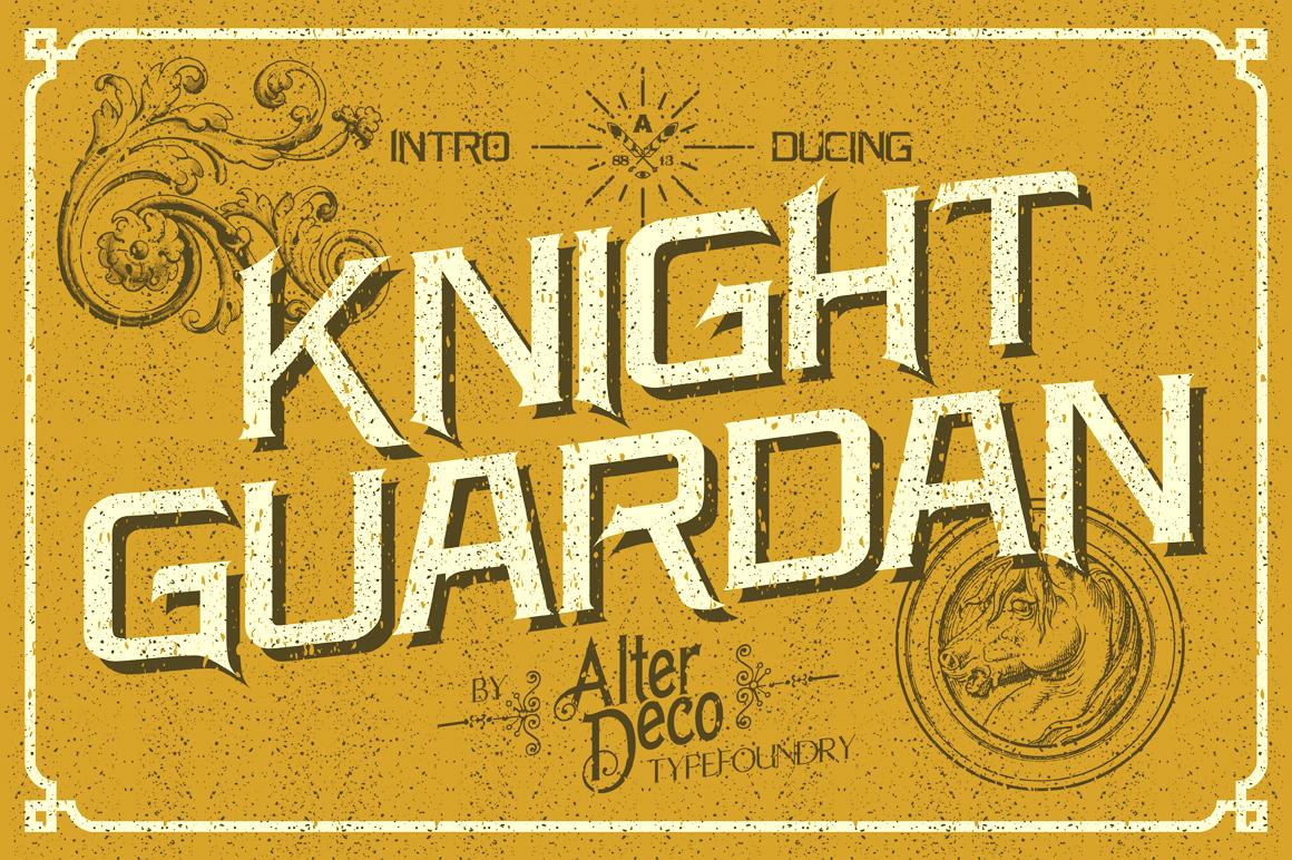 Knight Guardan font + BONUS example image 5
