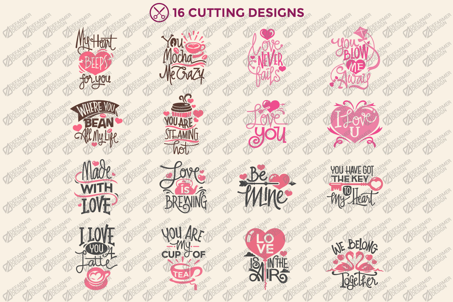 Valentine's Day Quotes Collection Cutting File example image 3