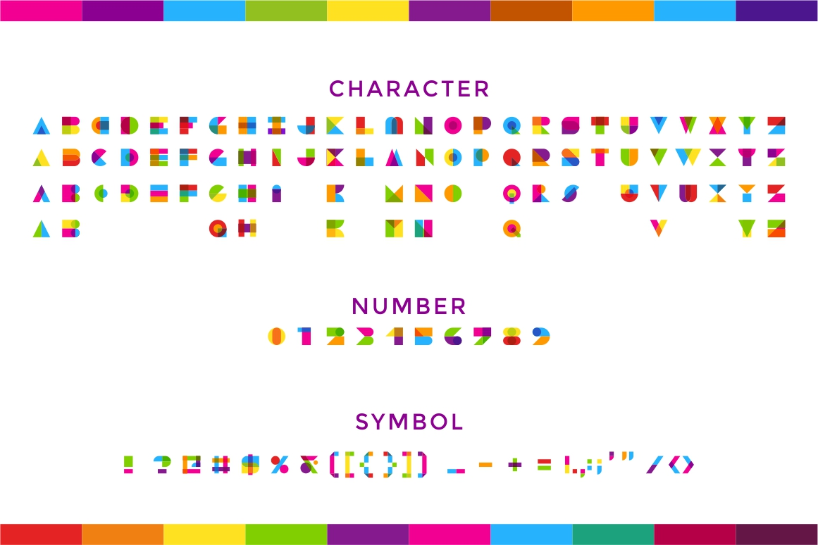 Garis Lengkung - Color Font example image 7
