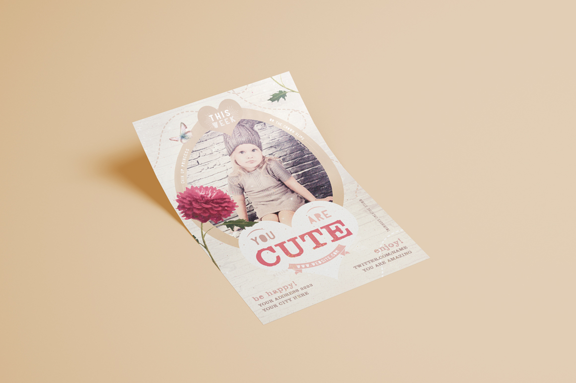 You Are Cute Flyer Template example image 3
