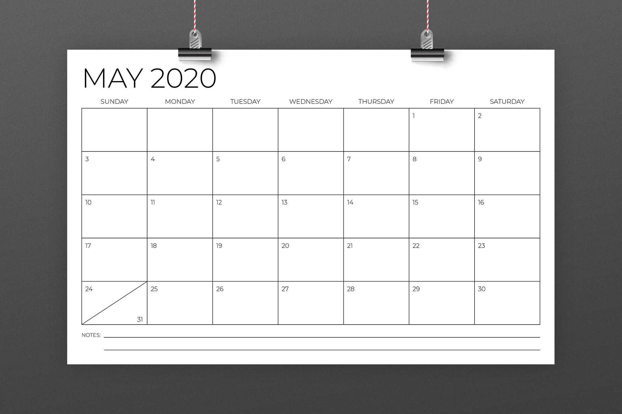 11 x 17 Inch Modern 2020 Calendar example image 3