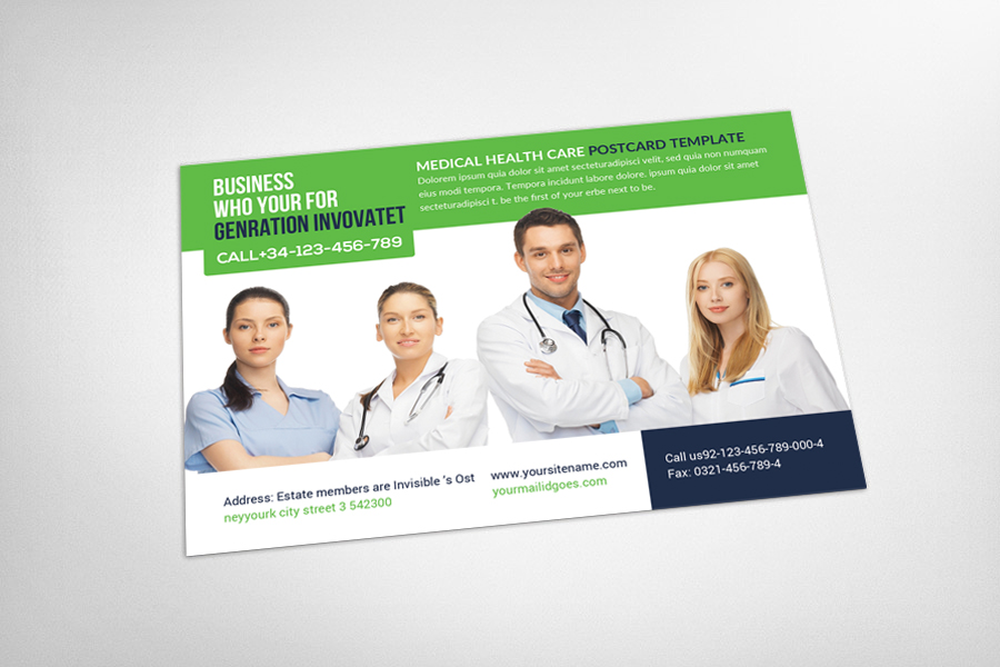 Medical Health Care Business Postcard example image 3