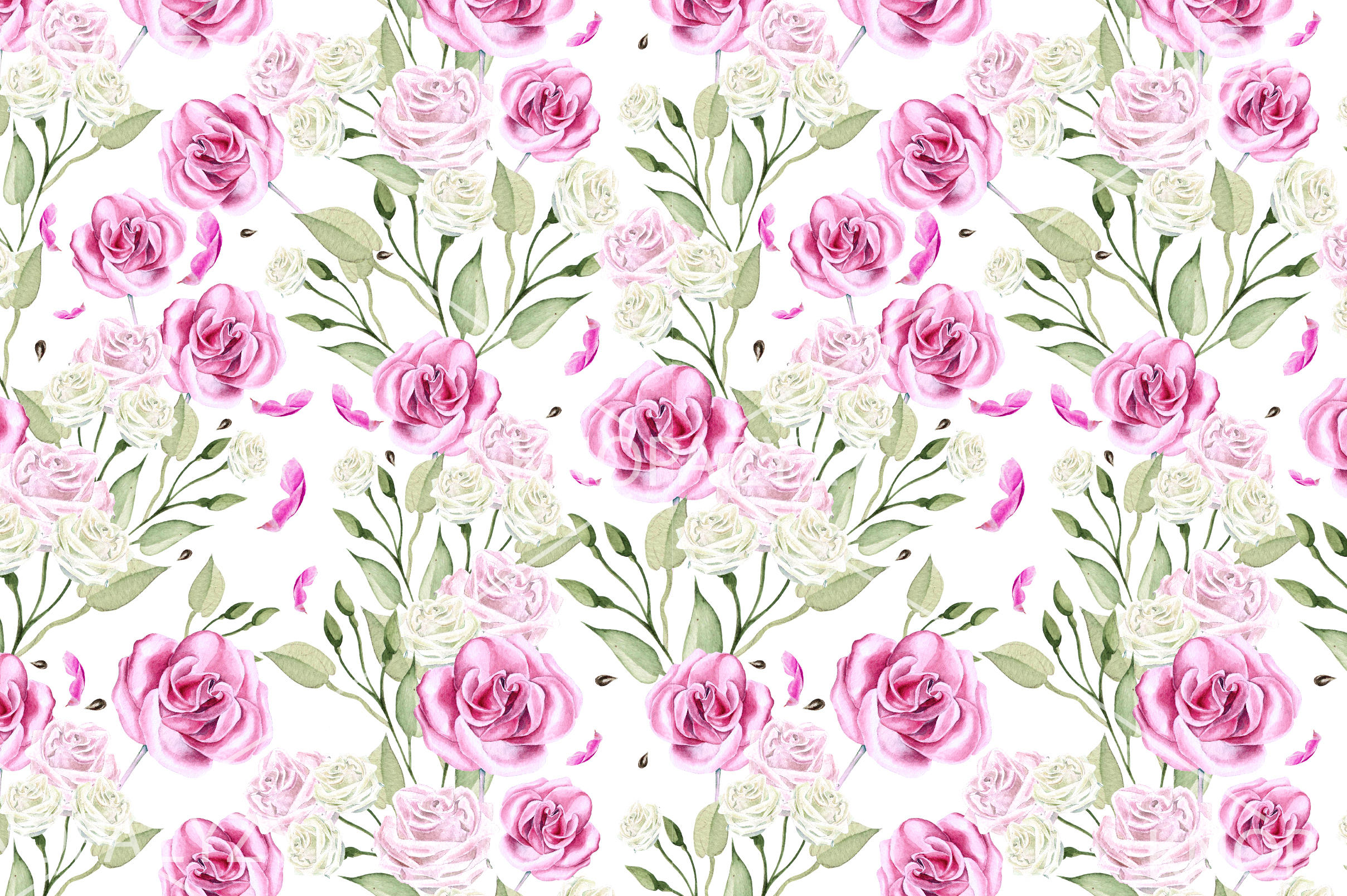 10 Hand Drawn Watercolor Pattern example image 9