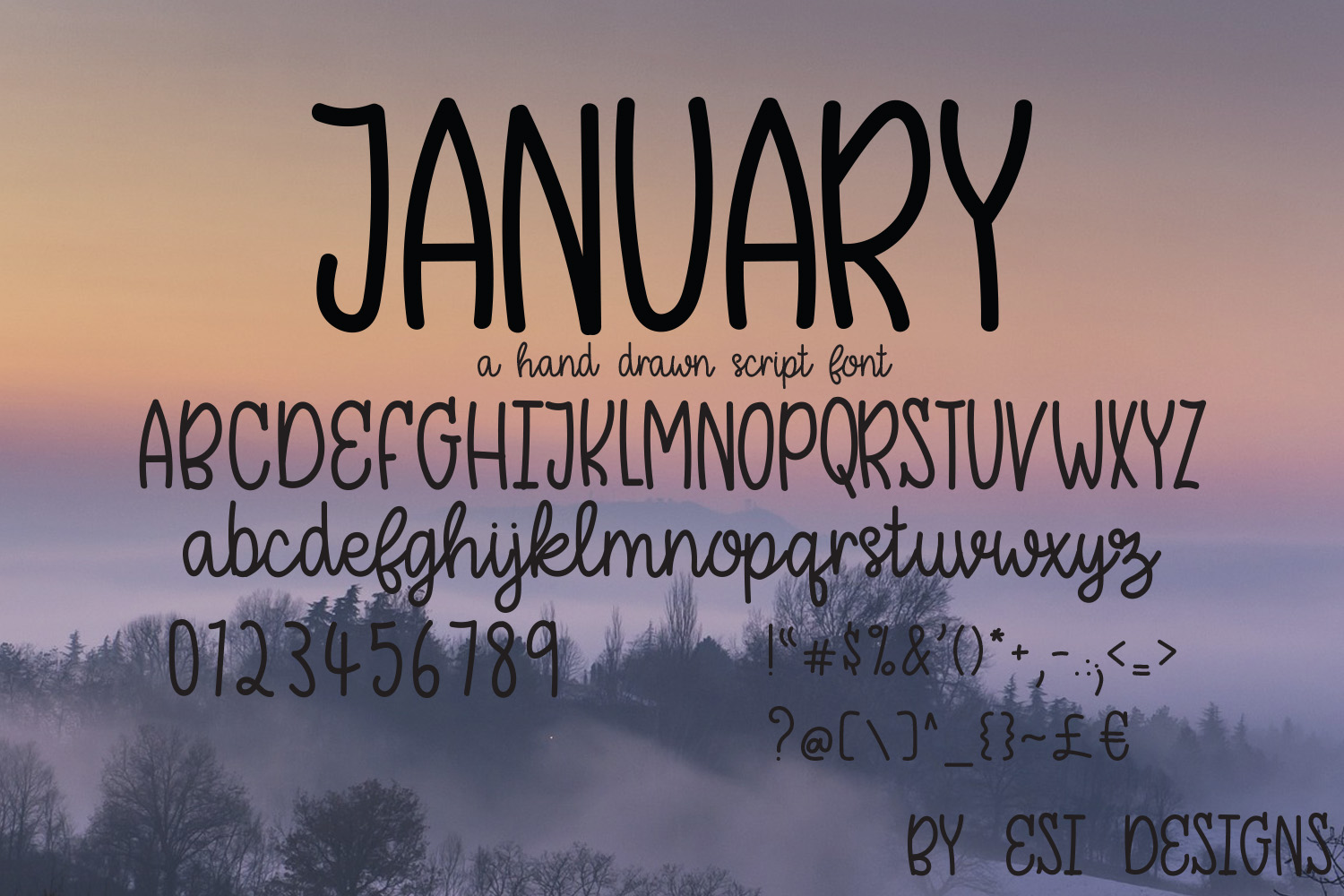 January - A Modern Hand Drawn Script Font example image 2