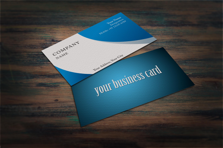 Photorealistic business card mockup set example image 6