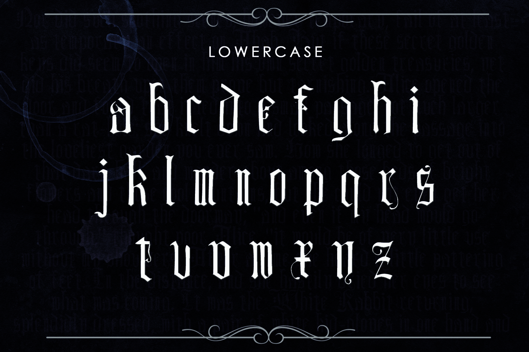 DEIMOS, a Blackletter Typeface example image 3
