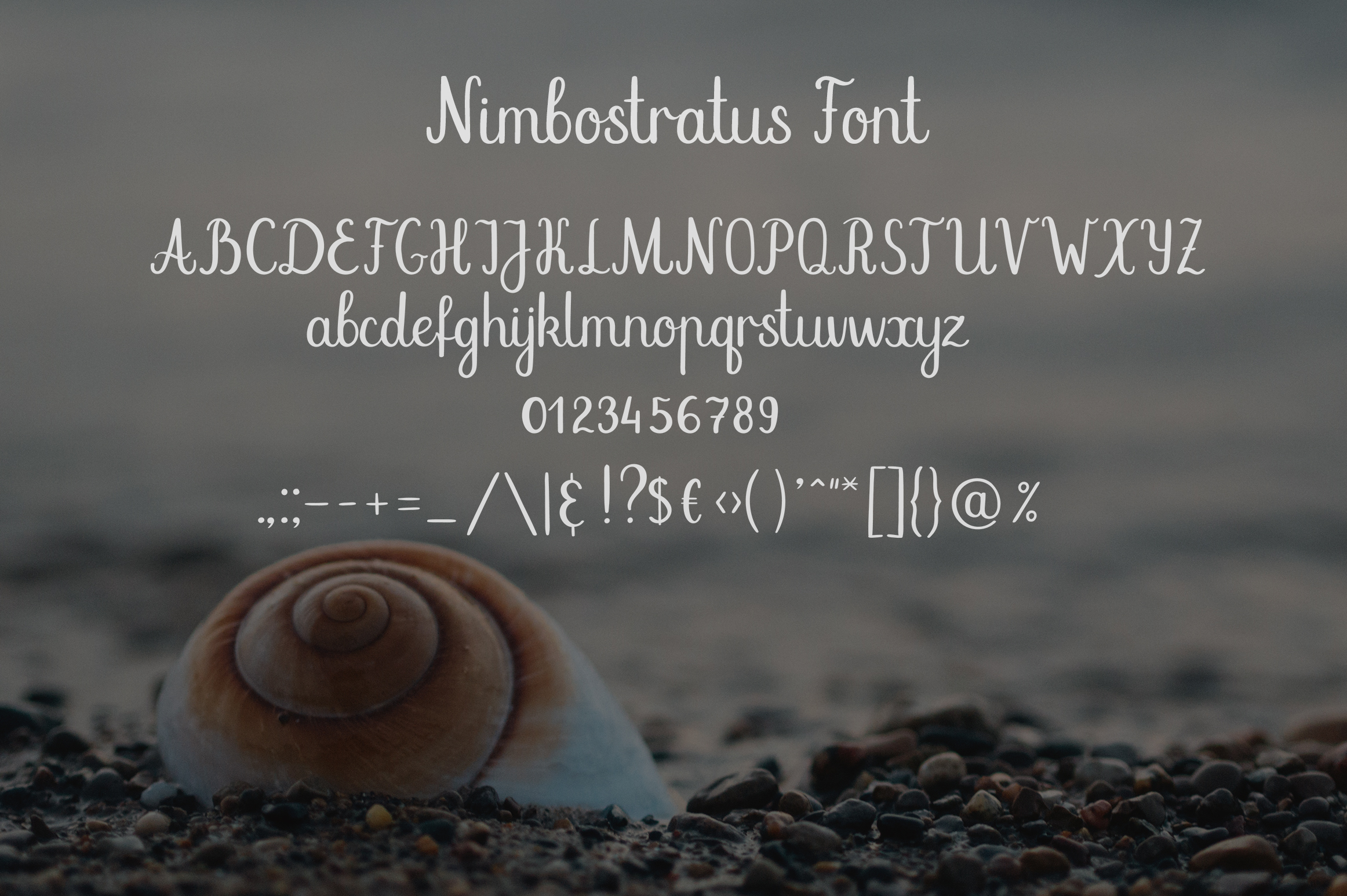Nimbostratus. Handwritten Font example image 8