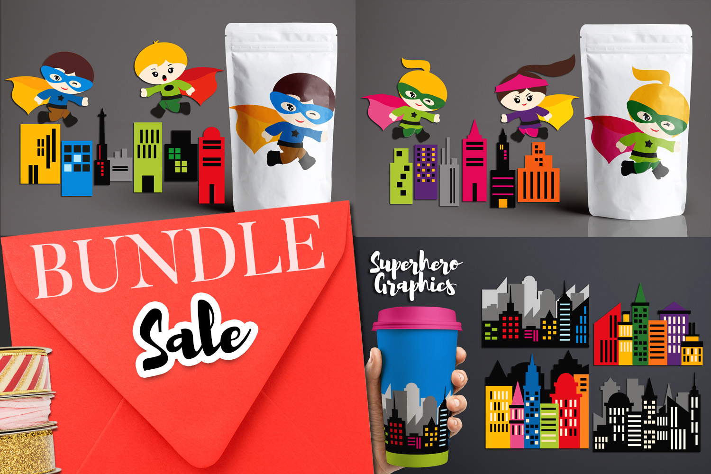 Illustrations Huge Bundle - Superhero Clip Art Graphics example image 6
