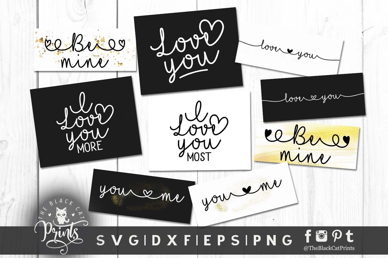 Mini Valentines bundle SVG DXF EPS PNG example image 2