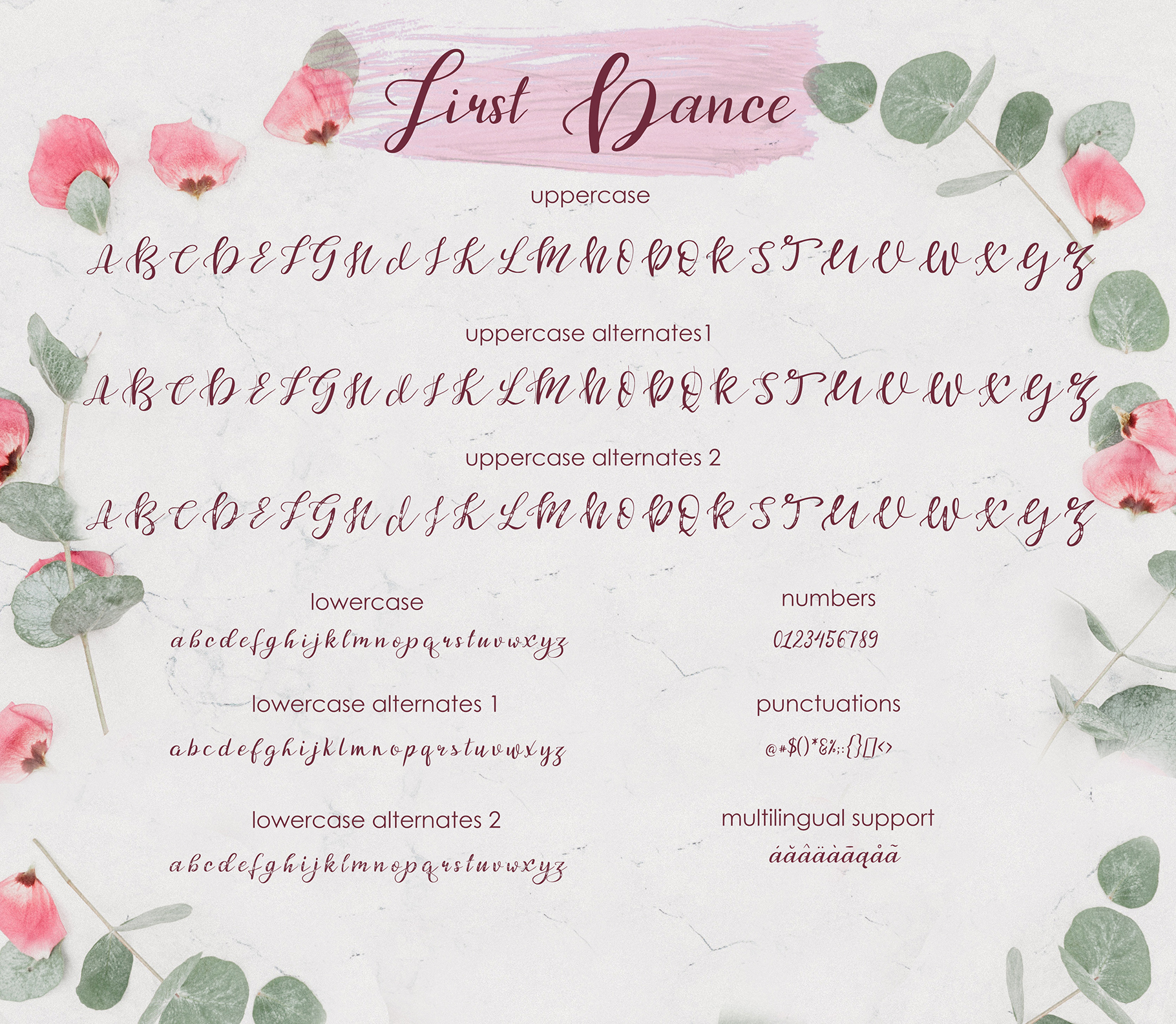 First Dance - font example image 7
