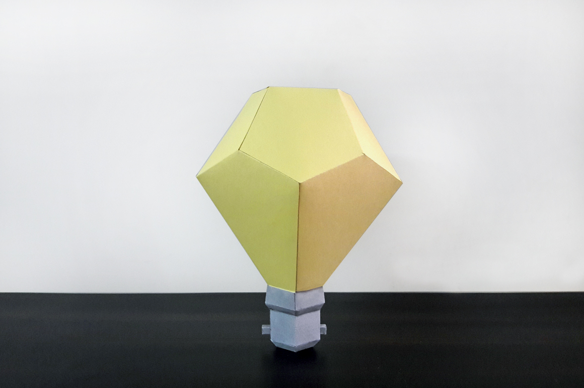 DIY Paper Bulb - 3d papercraft example image 3