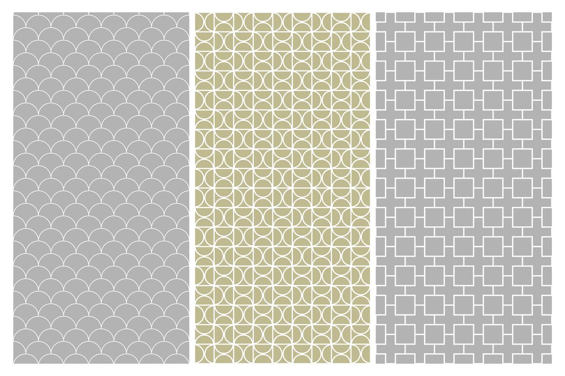 Geometric seamless symmetry patterns example image 12