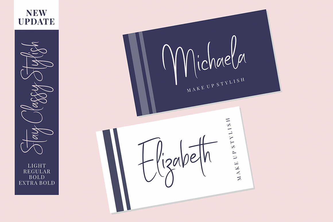 Stay Classy - Font Family example image 3