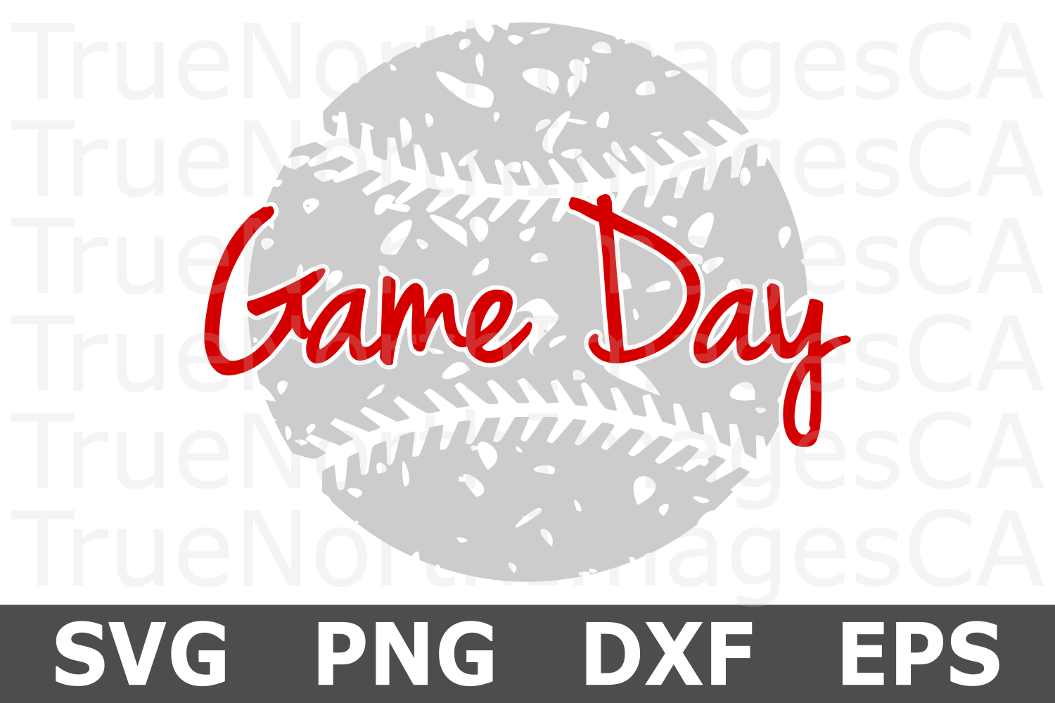 Game Day Grunge Baseball - A Sports SVG Cut File example image 2