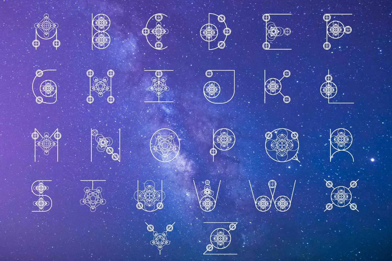 Magical Geometric Font example image 2