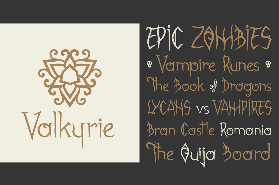 Gabrielle Bloodkador Halloween Font example image 2