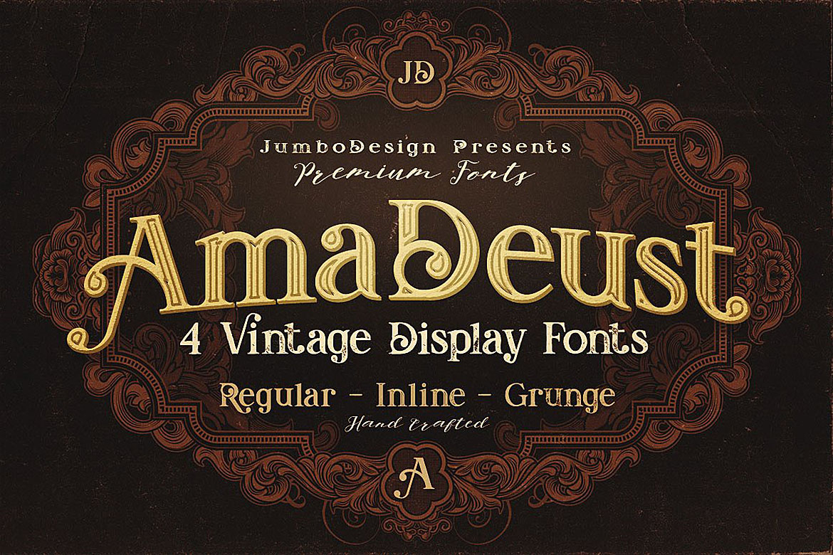 AmaDeust - Display Font example image 1