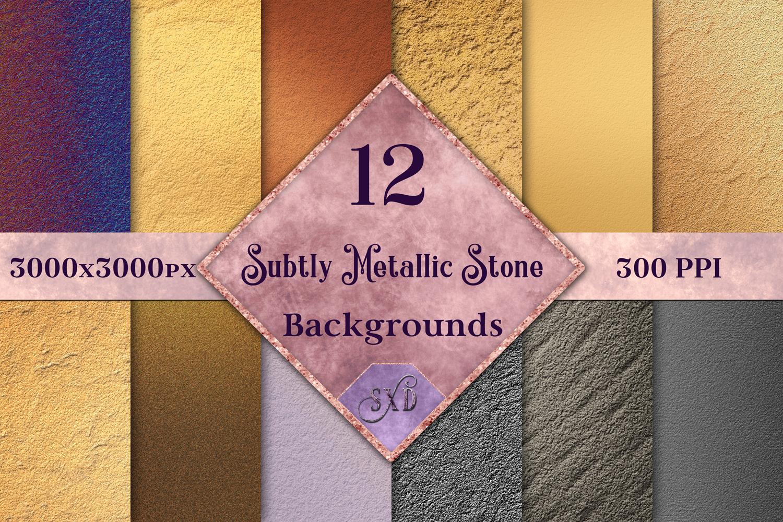 Subtly Metallic Stone Backgrounds - 12 Image Textures Set example image 1