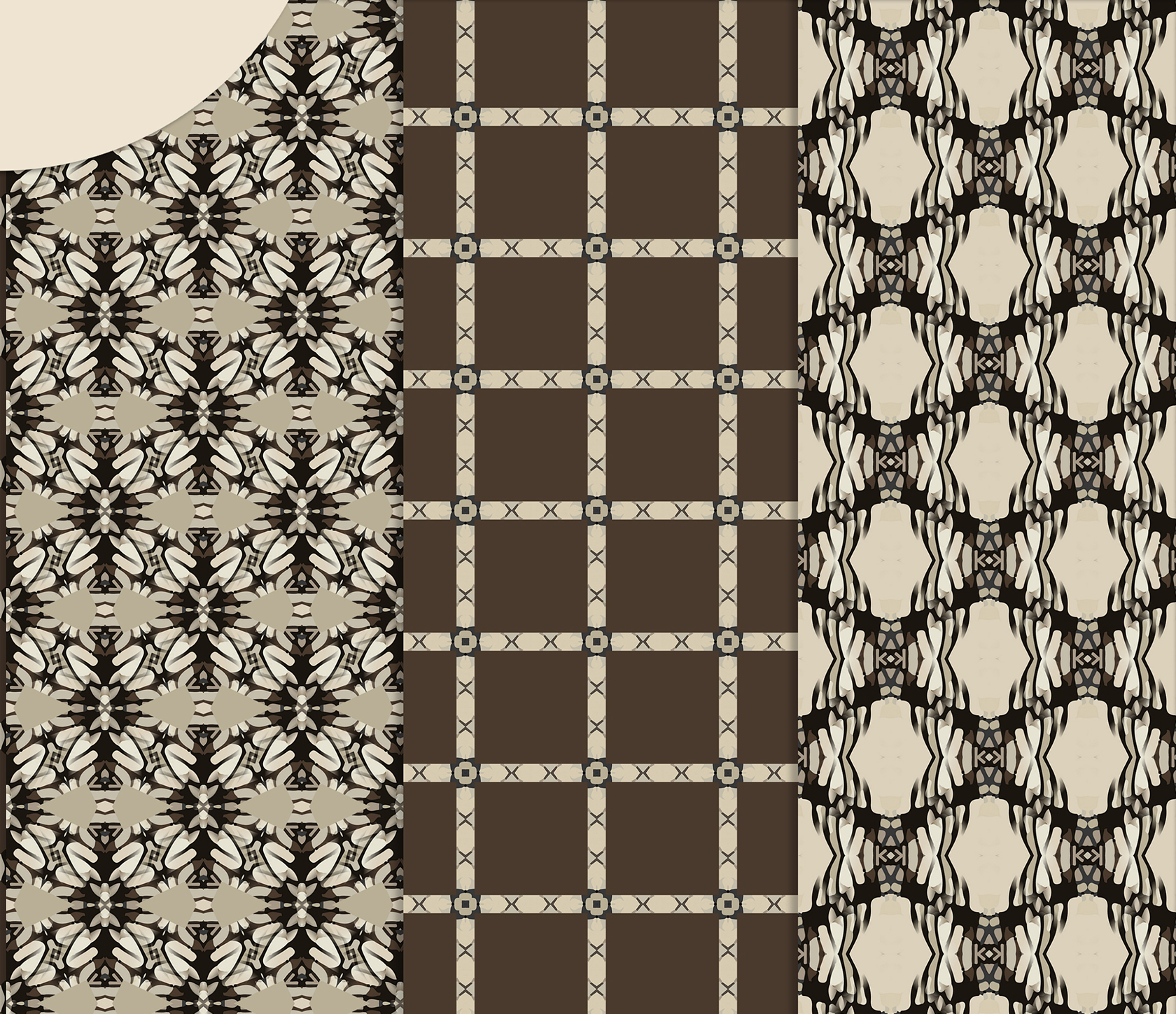 Brown-Gray abstract Digital Scrapbook Paper example image 3