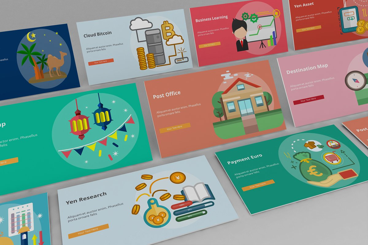 Visual Business Keynote Template example image 3