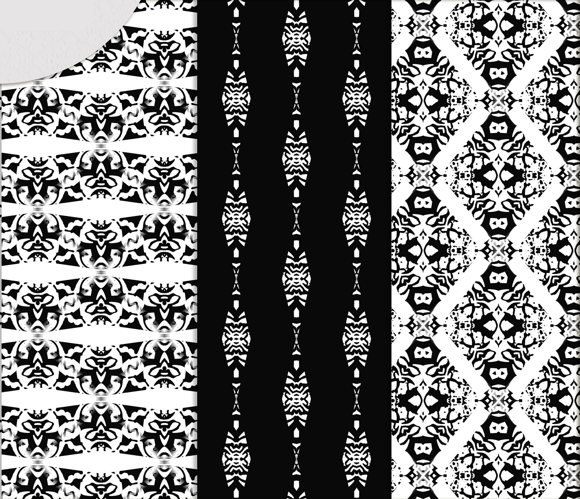 Black and white Digital Scrapbook Paper example image 4