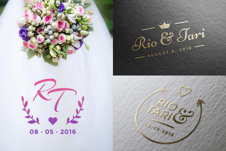 20 Minimalist Wedding Logos example image 3