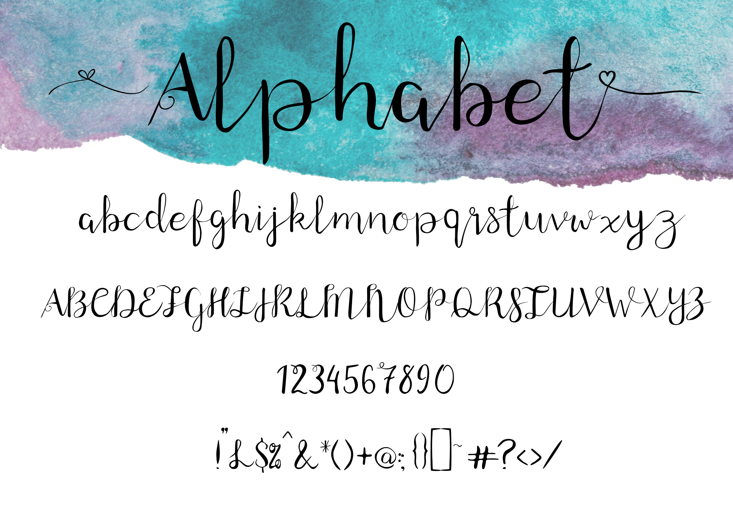Windswept, a Brush script font example image 3