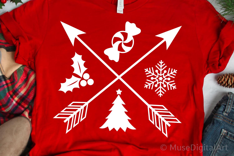 Christmas Sign Svg, Christmas Svg, Christmas with Arrows Svg example image 1
