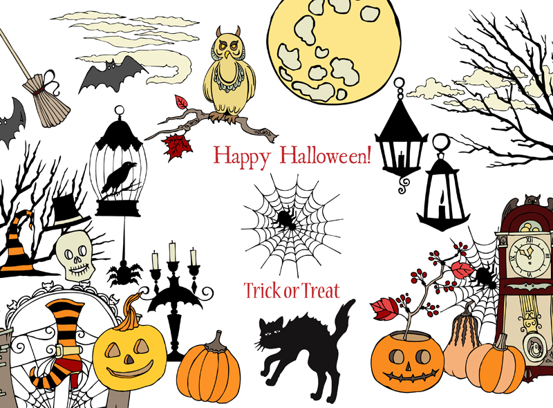 Halloween Colors Clip art example image 1