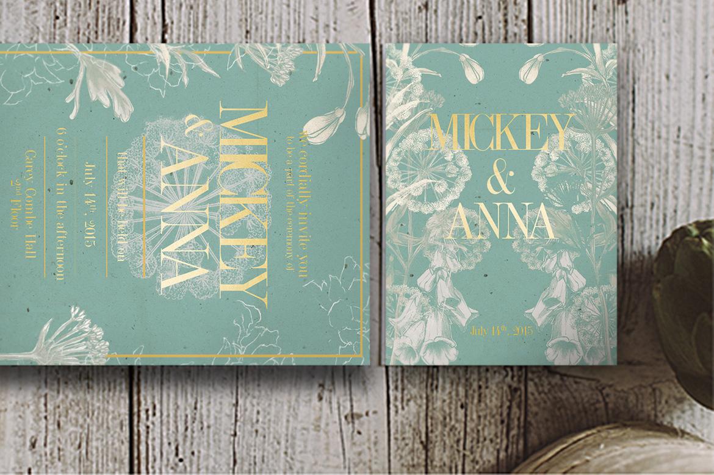 Classic Foliage Wedding Invitation example image 3
