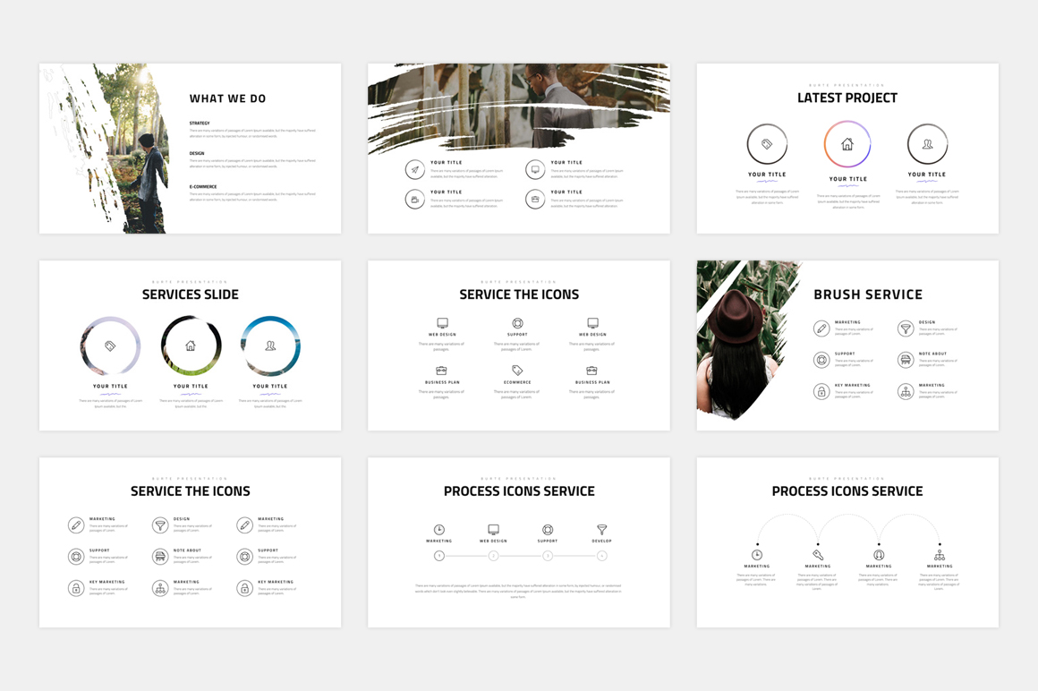 BURTE-Powerpoint Template example image 4