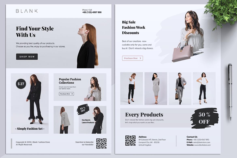 BALNK Minimal Fashion Flyer example image 7