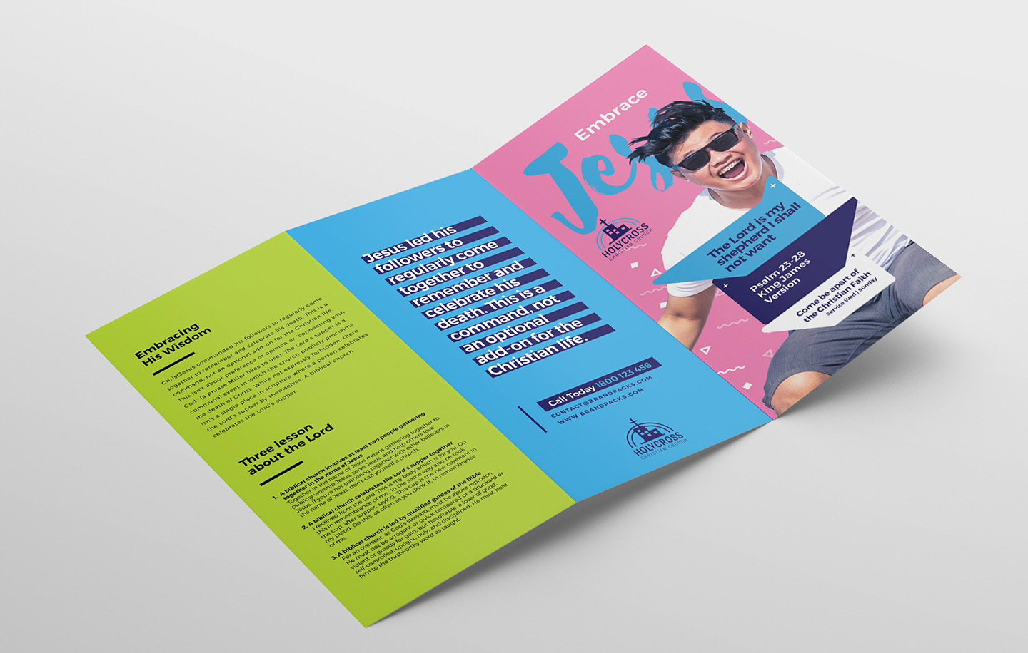 Easter Service Tri-Fold Brochure Template example image 4