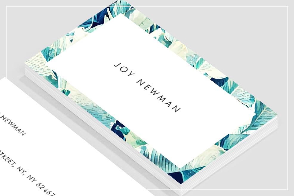 Banana Leaf Crush Business Card Template example image 2