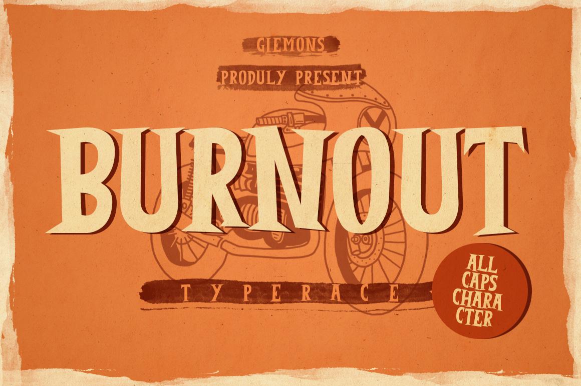 Burnout Font example image 1